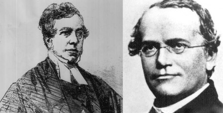 William Webb Ellis (à.g) et Gregor Mendel (à.d)