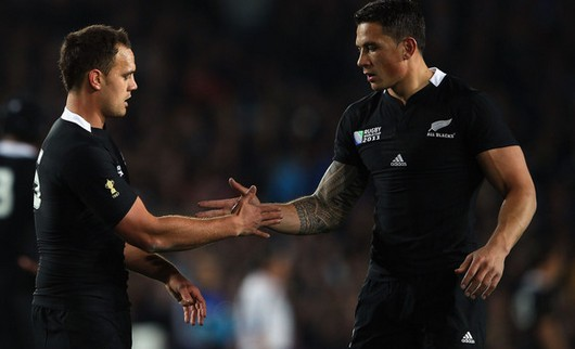 Israël Dagg et Sonny Bill Williams, deux des acteurs de la victoire All Blacks face au Tonga