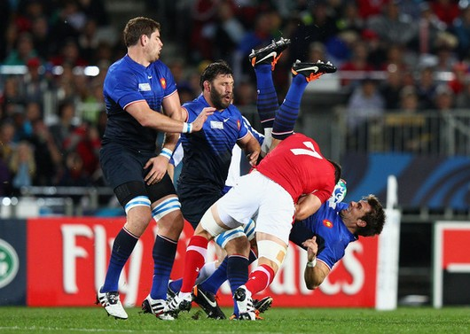 Plaquage dangereux de Sam Warburton sur Vincent Clerc (Ryan Pierse/Getty Images AsiaPac)