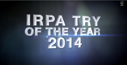 Les 5 nominés pour l'IRPA Try of the Year 2014